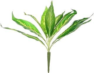 JIAJBG Decoración Lifelike Plantas Artificiales Pseudo Hoja Palm Deja Hierba Pote Home Bush Decoraciones de Pared Festival...