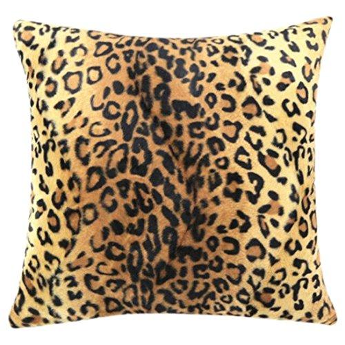 dragonaur Animal cebra leopardo diseño de piel de tigre funda de almohada de decoración para el hogar funda de cojín, felpa, # B, Medium