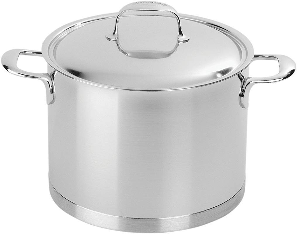 Demeyere 41394 Atlantis 7 Ply Stainless Steel Stock Pot 8 5 Quarts Silver