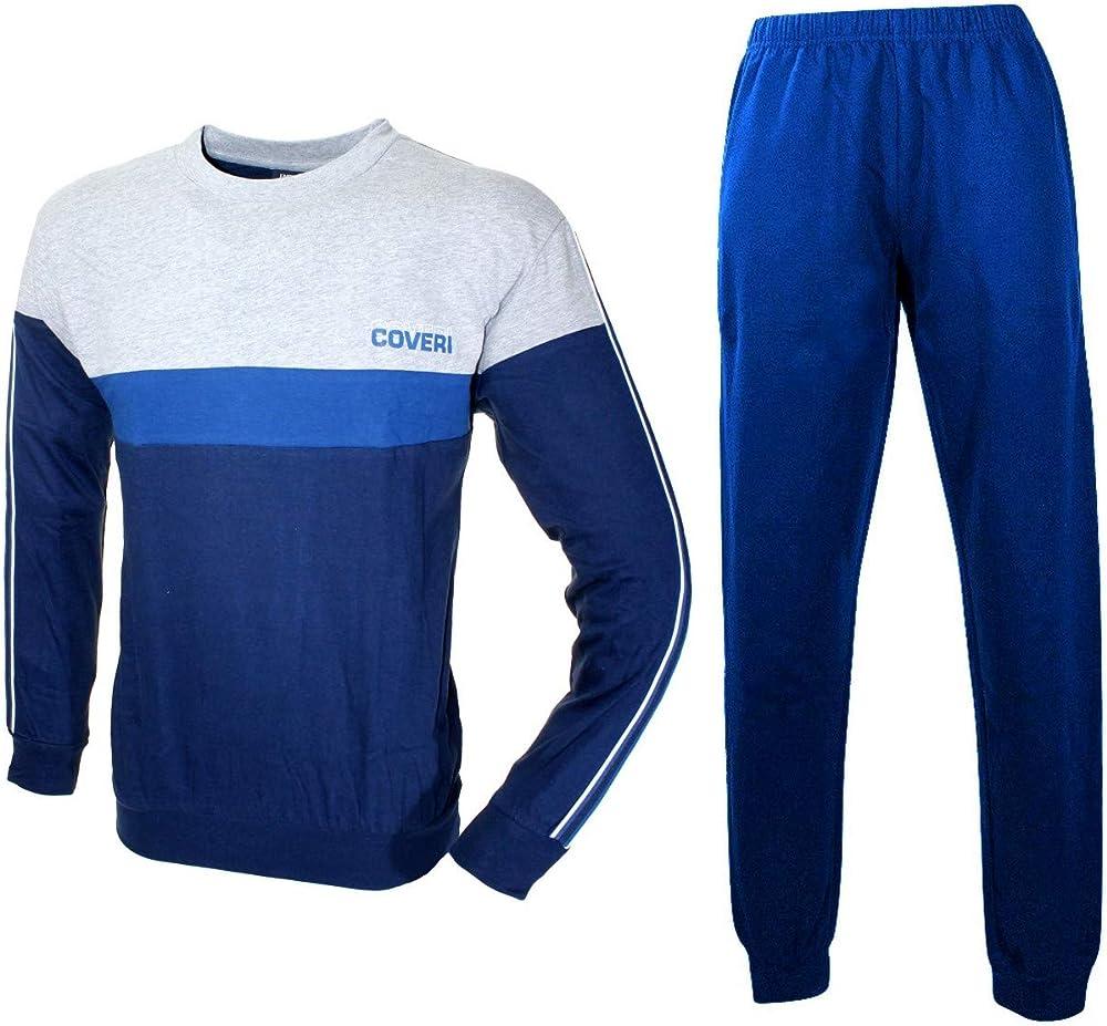 Enrico coveri, pigiama, tuta per uomo,in cotone jersey EP8129