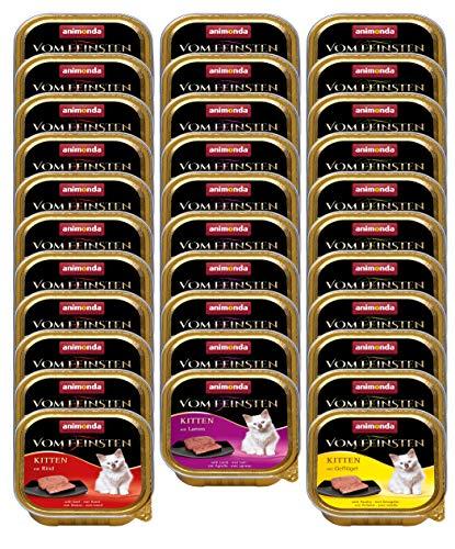 animonda Vom Feinsten Kitten, Nassfutter für wachsende Katzen im ersten Lebensjahr, 1er Pack (1 x 3200 g)