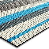 Floordirekt Alfombra de Interior y Exterior para Pasillo, Cocina, baño, terraza, balcón, Muchos Colores y tamaños, Ravenna, 60 x 500 cm