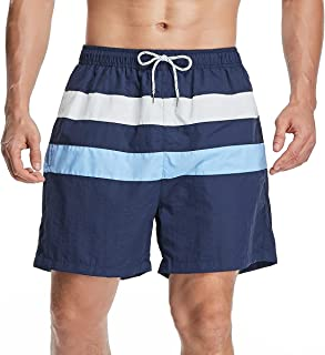 Joweechy Men's Swimming Trunks Pants Swimwear Shorts Swim Boxer Briefs Trunks