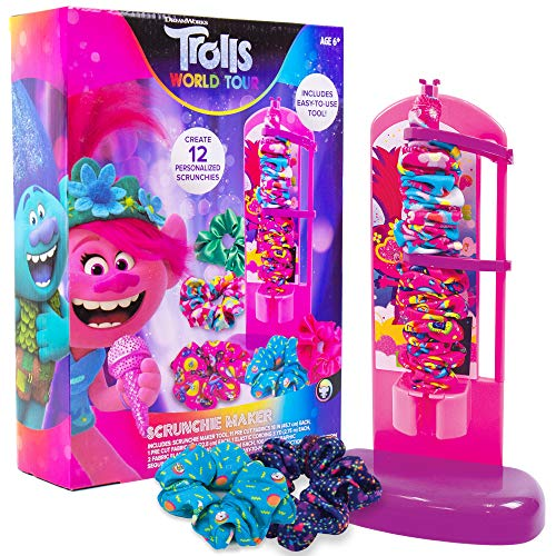 Product Image of the Trolls World Tour Scrunchie Maker by Horizon Group USA. Create 12 Personalized...