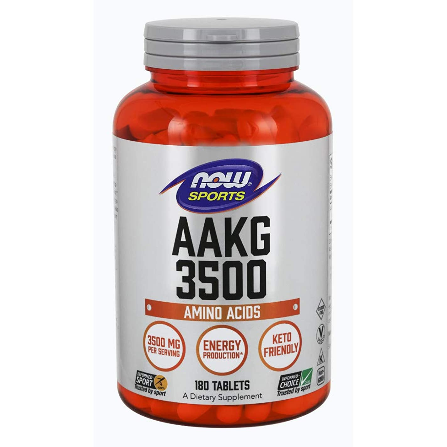 サイレン赤外線剃る[海外直送品] ナウフーズ AAKG3500(L-アルギニン-アルファ-ケトグルタレイト) 180錠