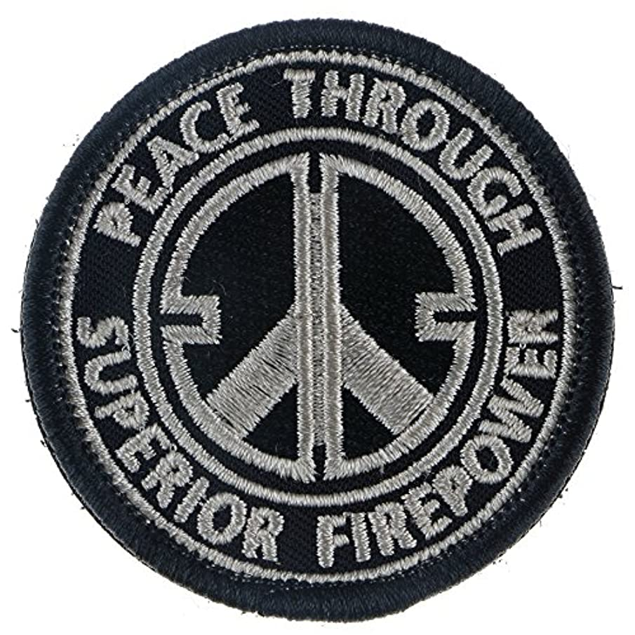 LiZMS Tactical Patch : Peace Through Superior Firepower - Hook and Loop Fasteners