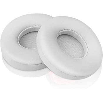 Beats Solo Replacement Ear Pads by Link Dream - Replacement Ear Cushions Kit Memory Foam Earpads Cushion Cover for Solo 2.0/3.0 Wireless Headphone 2 Pieces (White)