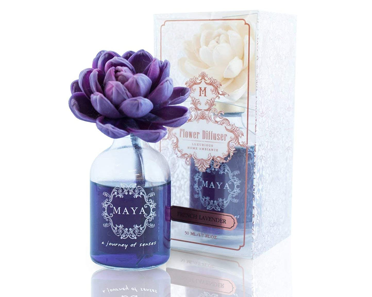 MAYA フラワーディフューザー フレンチラベンダー 50ml [並行輸入品] |Aroma Flower Diffuser - FRENCH LAVENDER 50ml