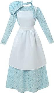 Women American Pioneer Colonial Dress Costume Girls Prairie Dress Civil War Floral Dress