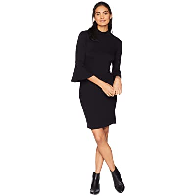 Michael Stars Elevated French Terry Bell Sleeve Dress (Black) Women