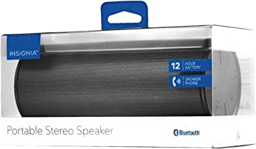 Insignia – Portable Bluetooth Stereo Speaker – Black