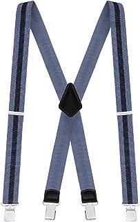 Mens Suspenders Elastic Adjustable 48
