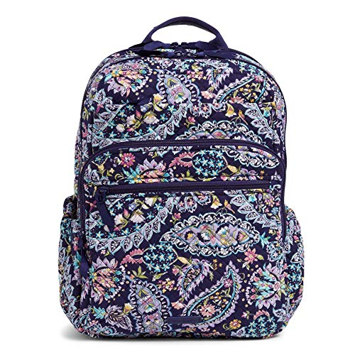 Vera Bradley Women's Signature Cotton XL Campus Backpack, French Paisley, One Size