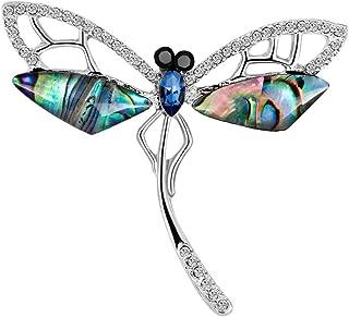 Broche Bijoux Insecte Libellule Broche Unisexe Vintage Pins Broches en Strass de Mode Classique Libellule Broches Bleu Weimay