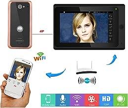 XH 7 Pulgadas alámbrica/inalámbrica Wi-Fi IP videoteléfono Timbre de la Puerta, Sistema de Entrada de walkie-Talkie, 1000TVL de Infrarrojos de visión Nocturna cámara de Aluminio, Soporte iOS/Android