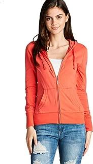 NANAVA Women's Basic Casual Full Zip-Up Long Sleeve Drawstring Hoodie