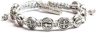 My Saint My Hero Benedictine Blessing Bracelet - Silver/Silver