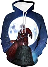 Snowmolle Hoodies Christmas Theme Men 3D Printed Pullover Long Sleeve Fleece Hooded Sweatshirts Crew Neck with Pockets