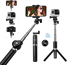 Foxnovo Selfie Stick, Selfie Stick Tripod with Bluetooth Remote Mini Pocket Extendable Monopod for iPhone Xs/8/7/6/Plus, Galaxy S9/S9 Plus/Note 8/S8, Android, GoPro