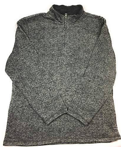 Weatherproof Vintage Men's ¼ Zip Sweater Fleece Pullover (XXL, Black)