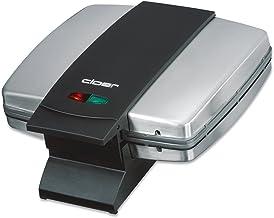 Cloer 6235 sandwichmaker / 930 W/voor 2 hele toast/schelp vorm/optische afwerking/snoeropwikkeling/matte roestvrijstalen b...