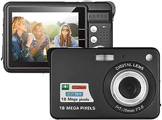 デジタルカメラ コンパクト デジカメ 子供用 こども用 2.7インチスマイリーキャプチャ スポーツカメラ 連続ショット 8X自動デジタルズーム ミニデジタルカメラ (black)