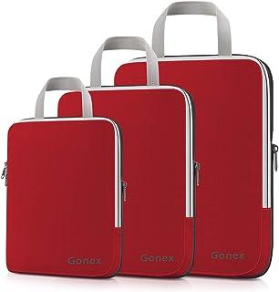 Gonex Compression Packing Cubes,3pcs L+M+S Expandable Storage Travel Bags Luggage Organizers
