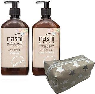 Nashi Argan Shampoo 500 ml & Conditioner 500 ml with free hand bag