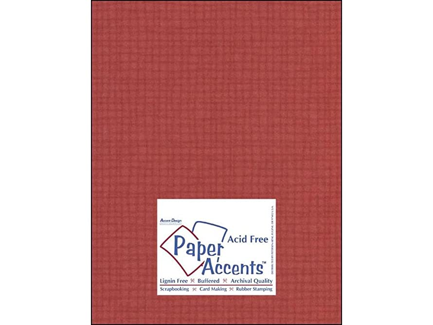 Accent Design Paper Accents Cdstk Muslin 8.5x11 74# Schoolhouse Red