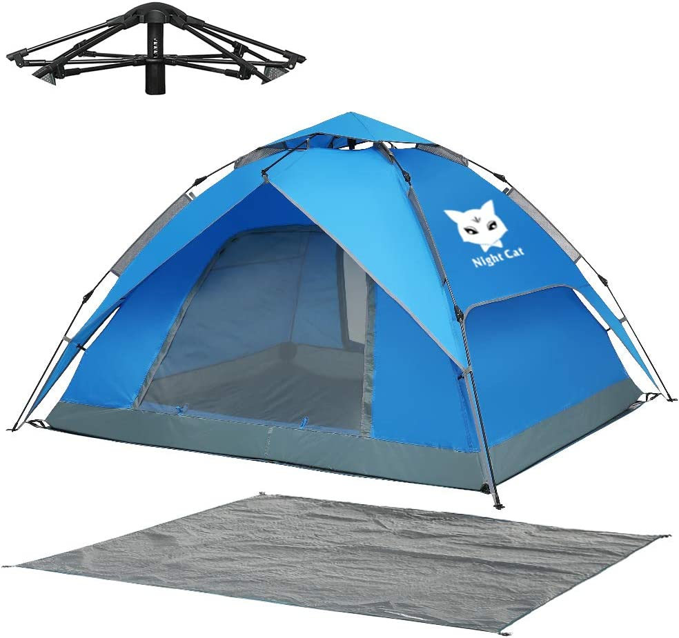 Night Cat Waterproof Free Shipping Cheap Bargain Gift Free Shipping New Camping Tent for 1 3 4 2 Person with Footpr