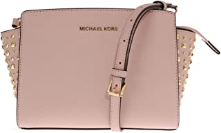 Michael Kors Women's Selma Stud Medium Leather Messenger Bag Cross Body