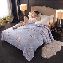 Natural Silk Filling Printed Breathable Down Comforter Lightweight Soft Warm Duvet Insert Fluffy Skin-friendly Quilt All S...