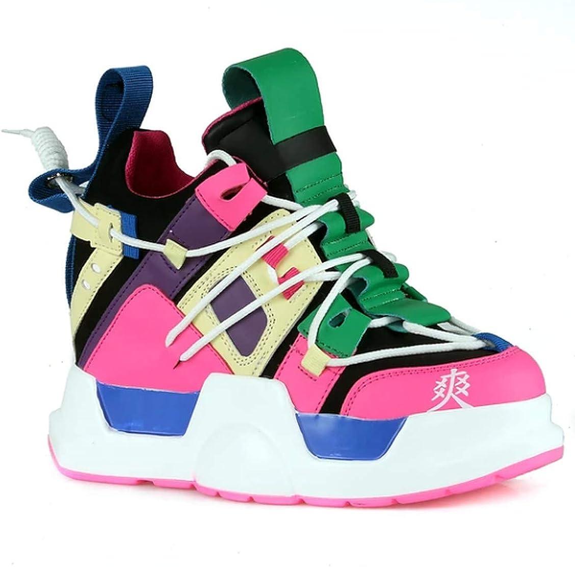 Anthony Wang Women's Hidden Wedge Chunky Platform Fashion Sneaker-Mulberry-05