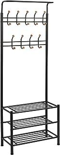 BEIGOO Porte-Manteau,Entr/ée Couloir Pliable Montage Facile Portant Vestiaire Utilis/é pour Cape V/êtement Chambre Int/érieur Portemanteau Portant-A