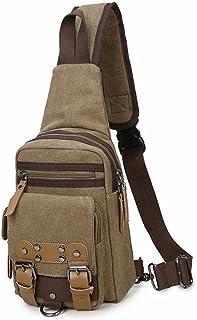 Large Capacity Riding Backpack Men's Sling Handbag One Shoulder Backpack Crossbody Large Capacity Chest Handbag Sturdy (Color : Yellow)
