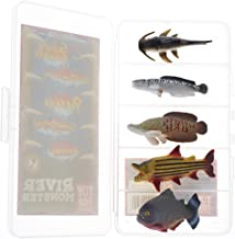 River Monster Collection | Toy Fish Set | Monster Fish with Collector Case | Piranha | Arapaima | Goliath Tigerfish | Giant Snakehead | Goonch Catfish | Miniature Figurine Fish by Toy Fish Factory