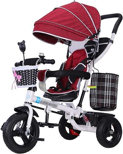 Descuento del 70% barato QDY-Cochecitos Carrito de bebé 4 en en en 1 Trike Bike Trike para bebé con Amortiguador y Arnés de Seguridad Kids 'Triciclo para 6 Meses - 5 años (rojo)  venta al por mayor barato
