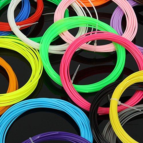 ELEGIANT 20 Stück Ink Filament PLA Filament 3D Stift Filament 1.75MM 10M 3D Print Filament 3D Printing Pen Supplies PLA Material 20 Farben Set für 3D Drucker Stift 3D Pen Kinder - 8