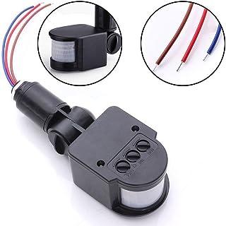 Rokoo Interruptor automático infrarrojo de la lámpara de pared del detector de sensor de movimiento de