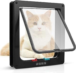 Sailnovo Puerta para Gato con Cierre magnético de 4 vías Puerta para Mascotas para Gatos y Perros pequeños Puerta para G...