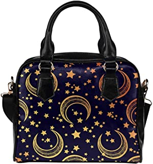 Moon With Stars Crossbody Purse Bags for Women Shoulder Bag