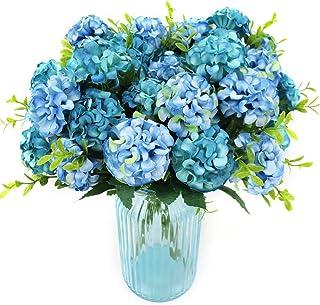 comprar comparacion XONOR 4 Paquetes de Seda Artificial Hortensia Nupcial Dama de Honor Ramo de Flores para el Banquete de Boda Decoración del...