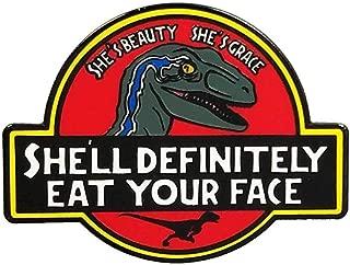 Dark Spark Decals She's Beauty She's Grace She'll Definitely Eat Your Face Raptor Velociraptor JP 1.75