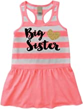 Bump and Beyond Designs Big Sister Outfit, Baby Girl Clothes, Big Sister Summer Tank Dress
