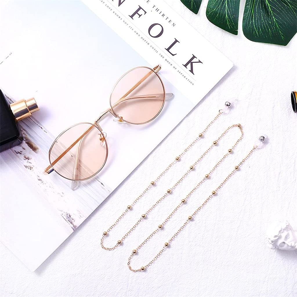 ZYKBB Chic Womens Eyeglass Chains Sunglasses Reading Beaded Glasses Chain Eyewear Cord Holder Necklace strap Rope (Color : A, Size : Length-70CM)
