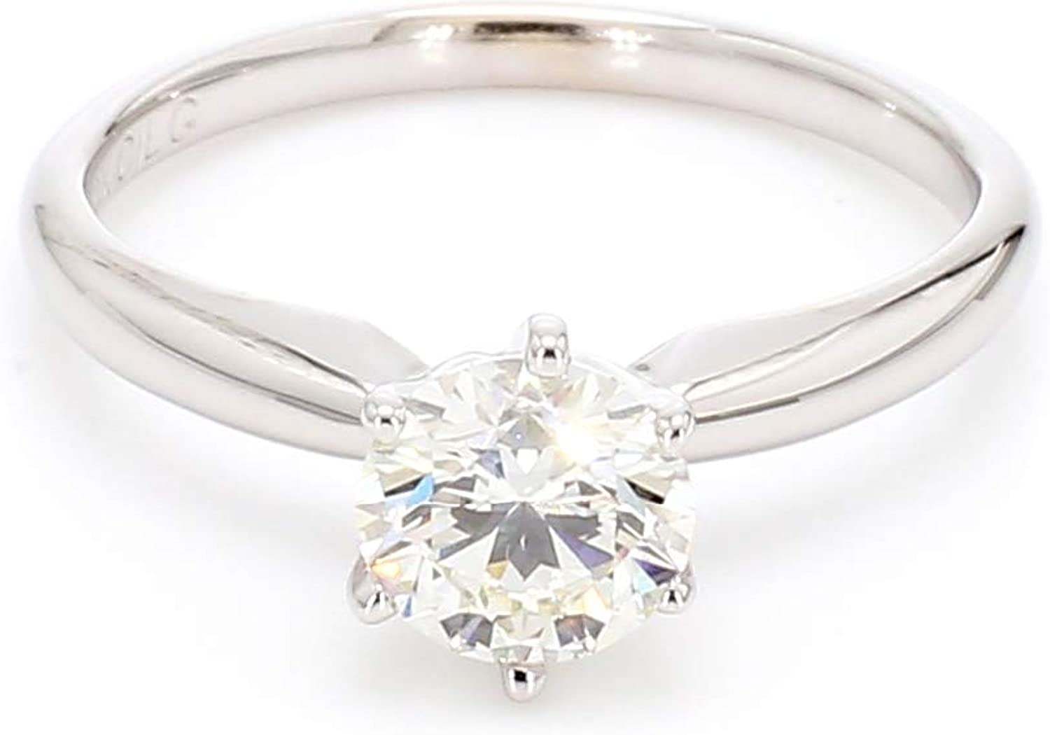 14k White Gold Lab-Grown Diamond Solitaire Wedding Engagement Ring (1/2 cttw, I-J Color, VS2-SI1 Clarity)