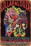 GenericBrands Lollapalooza Jahrgang Blechschild Kunst