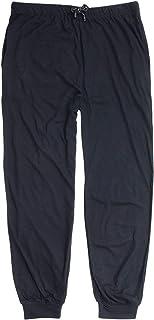 ADAMO Long pyjama bottoms in dark blue, large sizes up to 10XL