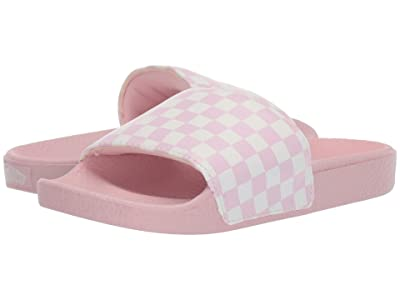 Vans Kids Slide-On (Little Kid/Big Kid) ((Checkerboard) Chalk Pink/Marshmallow) Girls Shoes