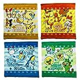 ポケモン ハンドタオル 4枚セット 34×35cm 綿100% ポケットモンスター タオルハンカチ 林 pokemon